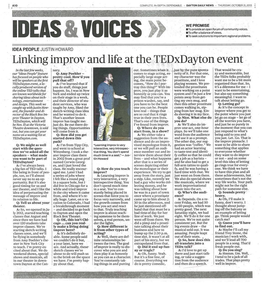 Justin Howard | Improv TEDxDayton
